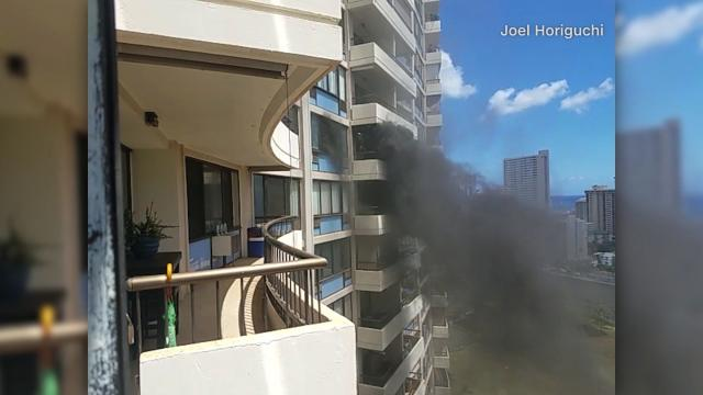 Honolulu's mayor says at least three people were killed in a huge fire at a high-rise. Authorities say it's not clear what started the blaze.