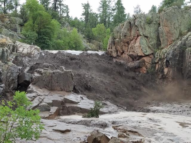 Flash flooding swept away a family at a swimming hole in central Arizona over the weekend.