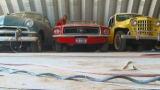 Idaho farmer collects vintage cars in his barns