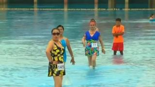 China swimsuit contest features senior models
