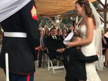 Boy bursts into tears as new stepmom reads vows to him
