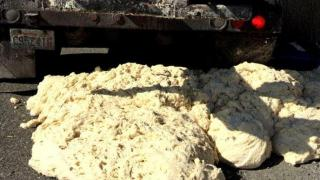 High temps cause dough to rise, spill from truck