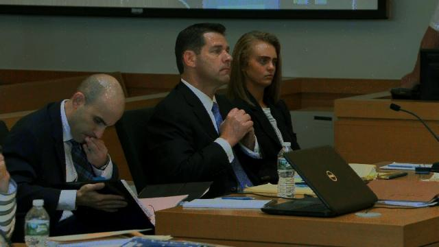Michelle Carter (seated right) was found guilty of involuntary manslaughter on June 16, 2017 after sending texts and calling her then-boyfriend, Conrad Roy, to encourage him to commit suicide in 2014.
