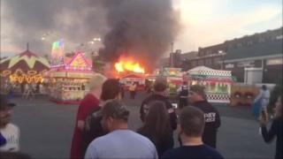 Fire starts at Erie County Fair in New York