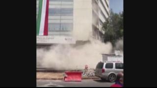 Building collapses during earthquake in Mexico City