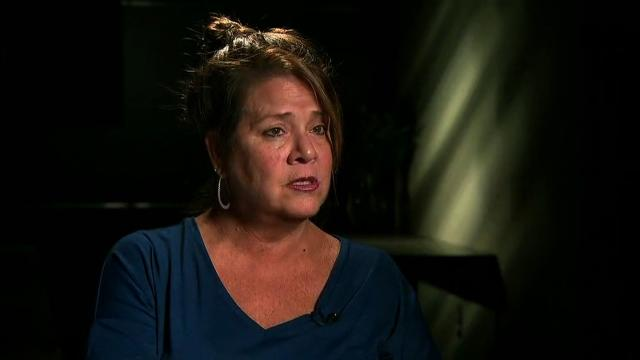 Mary Moreland's daughter Tina Frost, is fighting for her life. Moreland's daughter sustained grievous injuries Sunday after being struck above her right eye by the gunman's bullet in Las Vegas. Moreland is seen here speaking to CNN.