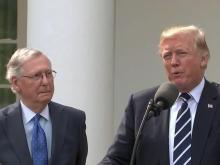 Trump, McConnell try to present unified GOP as legislative calendar wanes