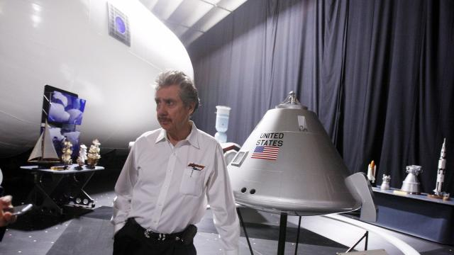 """FILE -- Robert Bigelow, a billionaire aerospace entrepreneur and longtime friend of former Sen. Harry Reid (D-Nev.), in North Las Vegas, Nev., April 29, 2010. Working with Bigelow's Las Vegas-based company, Bigelow Aerospace, the Defense Department's program to investigate UFOs produced documents that describe sightings of aircraft that seemed to move at very high velocities with no visible signs of propulsion, or that hovered with no apparent means of lift. During an interview on CBS' """"60 Minutes,"""" Bigelow said he was """"absolutely convinced"""" that aliens exist and that UFOs have visited Earth. (Isaac Brekken/The New York Times)"""