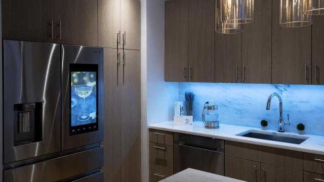 A Time Equities apartment, where most of the appliances can be controlled remotely, including a fridge and dishwasher, both from Samsung, in New York, Dec. 1, 2017. Digital amenities, controlled by voice commands and smartphone apps and use robots, are turning up across the New York area in condos, co-ops and rentals, even if users may have to contend with a few glitches. (Karsten Moran/The New York Times)