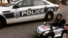 IMAGE: Toddler provides adorable back-up for Winston-Salem police in Twitter photo