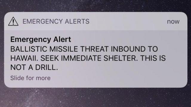 Hawaii officials say no missile threat despite emergency alert