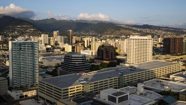 75FILE — Downtown Honolulu, Hawaii, Feb. 27, 2016. The Hawaii Emergency Management Agency confirmed that there was no ballistic missile headed toward the state, minutes after an emergency alert was sent to cellphones urging people to seek immediate shelter on the morning of Jan. 13, 2018. (Kent Nishimura/The New York Times)