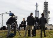 IMAGES: Falcon Heavy, in a Roar of Thunder, Carries SpaceX's Ambition Into Orbit