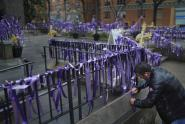 IMAGES: Ribbons of Hope and Prayer Fill a Manhattan Sidewalk