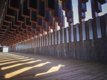 Alabama lynching memorial interior