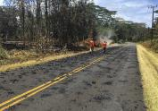 IMAGES: Lava, gas as Hawaiian volcano erupts