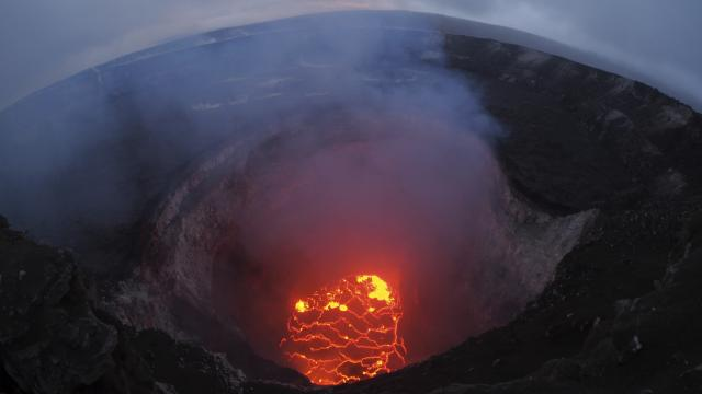 A photo provided by the U.S. Geological Survey shows the lava lake at the summit of Kilauea near Pahoa, Hawaii, May 6, 2018. More than two dozen homes have been destroyed since the Kilauea volcano began erupting last week, officials said on Sunday, as at least 10 fissures emerged, spewing lava into residential neighborhoods on the eastern edge of the island of Hawaii. (U.S. Geological Survey via The New York Times) -- FOR EDITORIAL USE ONLY. --