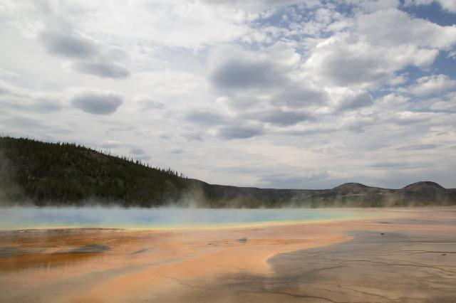 FILE — Grand Prismatic Spring at Yellowstone National Park in Wyoming, Aug. 30, 2017. Volcanic activity is responsible for some of the park's most spectacular sights. (Janie Osborne/The New York Times)