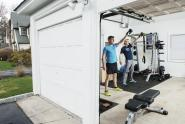 IMAGES: Two Ironmen, a Garage and a Vegan Agenda