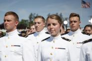 IMAGES: Navy Officers Saluted With Bluster and Big Numbers