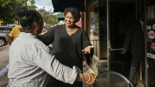 Stacey Abrams, who won the Democratic nomination for governor, campaigning earlier this month, in Rome, Ga., May 16, 2018. As Democratic women run for House, Senate and state offices in historic numbers this year, many are bucking the careful and cautious ways of politics. (Audra Melton/The New York Times)