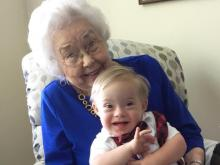 First-ever Gerber baby poses with current Gerber baby
