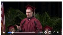 IMAGE: 'Unexpected' graduation speaker delivers incredible speech
