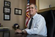 IMAGE: Merkley, a Quiet Stalwart of the Left, Has a Breakout Moment at the Border
