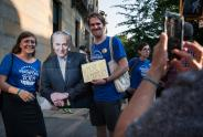 IMAGES: Schumer Misses Town Hall in Brooklyn, but Still Feels the Heat
