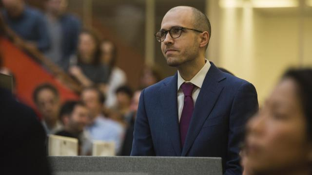 "FILE -- A.G. Sulzberger, the publisher of The New York Times, in the newsroom in New York, April 16, 2018. President Donald Trump on July 29, 2018, disclosed details of a private meeting he had with Sulzberger, who then flatly disputed the president's characterization of an exchange they had about threats to journalism. ""I told the president directly that I thought that his language was not just divisive but increasingly dangerous,"" he said in a statement. (Benjamin Norman/The New York Times)"