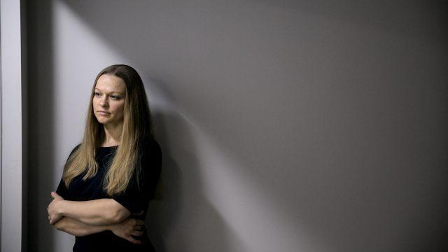 FILE -- Angelika Graswald, who pleaded guilty to criminally negligent homicide in the drowning death of her fiancé Vincent Viafore on the Hudson River, in the office of her attorney in White Plains, N.Y., Feb. 16, 2018. Graswald will receive a portion of her fiancé's policy under the terms of a settlement. (Sam Hodgson/The New York Times)