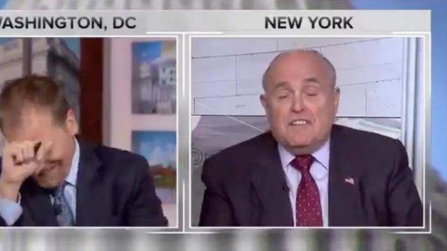 "NBC's Chuck Todd reacts as Rudy Giuliani insists ""truth isn't truth"" during an interview on August 19, 2018. Screenshot/NBC"
