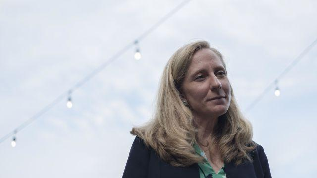 FILE -- Abigail Spanberger, a Democratic nominee for a House seat in Virginia, meets with supporters in Spotsylvania, Va., Aug. 2, 2018. Spanberger, a former C.I.A. officer running for Congress, demanded the Congressional Leadership Fund destroy the highly sensitive security clearance application that she says it obtained. (Gabriella Demczuk/The New York Times)