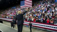 IMAGES: Trump, at Montana Rally, Tells Crowd: 'I'm Winning'