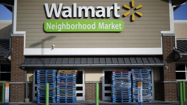 Pallets block the entrance at a Walmart store in the early morning in Myrtle Beach, S.C., Sept. 12, 2018. With millions of coastal residents either on the move or hunkering down anxiously in place, Hurricane Florence surged toward North Carolina on Wednesday, tracing an unusual path that could lead to tremendous destruction — especially if the immense storm dumps enormous amounts of rain as it moves inland. (Luke Sharrett/The New York Times)