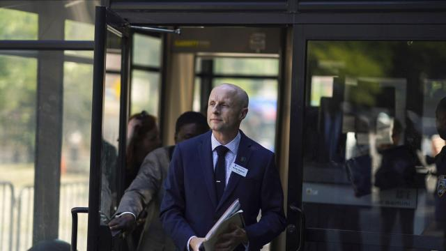 "FILE -- Andy Byford, the president of the New York City Transit Authority, in New York, July 10, 2018. This year, 621 people have ended up on the rails or struck by a train — a worrisome trend that subway officials are struggling to curtail. ""In New York, we have more incidents of people on the tracks than anywhere else I've worked,"" said Byford, who has also been a top transit official in London, Sydney and Toronto. (Chang W. Lee/The New York Times)"