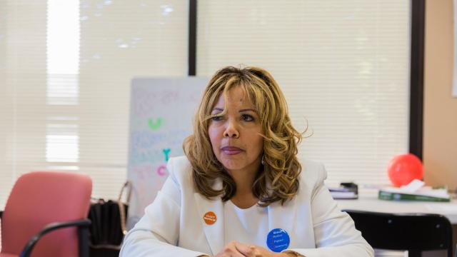 Lucy McBath, a Democratic congressional candidate, at her office in Atlanta, Oct. 13, 2018. More than anyone else running for Congress, McBath is redefining social justice in politics this year, in large part due to her deep personal connection to the Black Lives Matter movement; a white man fatally shot her son at a gas station when he refused to turn down his car stereo. (Lynsey Weatherspoon/The New York Times)