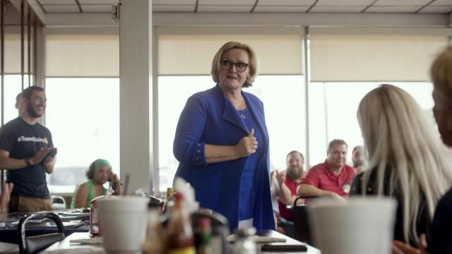 "FILE -- Sen. Claire McCaskill (D-Mo.) meets with constituents in Sikeston, Mo., Aug. 31, 2018. McCaskill raised eyebrows on Oct. 29, 2018, when she distanced herself from leading members of her own party, including two possible presidential hopefuls, Sens. Elizabeth Warren and Bernie Sanders, in a Fox News interview about ""crazy Democrats."" (Brandon Dill/The New York Times)"