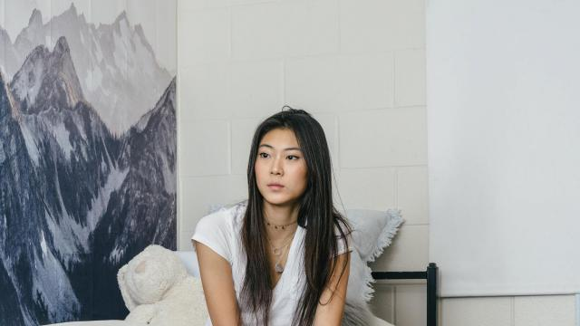 Nadine Lee, a first-year student at Harvard University, in her dorm room in Cambridge, Mass., Oct. 26, 2018. As a lawsuit challenging the use of affirmative action in admissions plays out, five freshmen reflect on why they beat the competition. (Tristan Spinski/The New York Times)