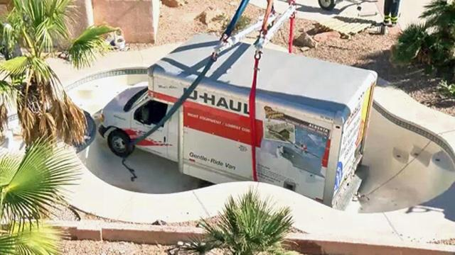 Oops U Haul Ends Up At Bottom Of Pool Wralcom