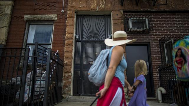 An apartment building in a residential area of in Brooklyn, Sept. 14, 2018. A prostitution ring had taken over two apartments to use as brothels. The landlord was complicit, the police said. (Dave Sanders/The New York Times)