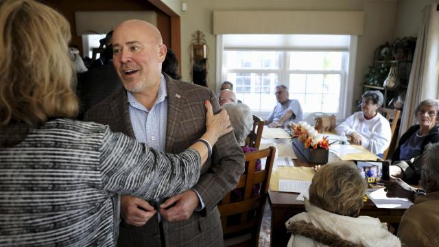 FILE -- Rep. Tom MacArthur (R-N.J.) has a meet-and-greet in Toms River, N.J., Oct. 24, 2018. After a drawn-out vote count, MacArthur, who wrote a key amendment in the effort to repeal the Affordable Care Act, was defeated by Andy Kim, a former national security adviser under President Barack Obama. (Rick Loomis/The New York Times)