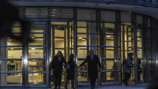 Members of the prosecution team in the trial of Joaquín Guzmán Loera, known to the world as El Chapo, depart from Brooklyn Federal Courthouse, Nov. 13, 2018. A former operations chief for the Sinaloa drug cartel took the witness stand Wednesday and offered a master class on the inner workings of the trafficking operation, identifying Guzmán as one of its chief leaders. (Stephanie Keith/The New York Times)