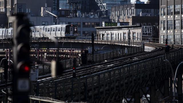 FILE -- A train leaves Marcy Avenue in Brooklyn, April 20, 2018. The Metropolitan Transportation Authority, which is struggling to fix the sputtering subway, needs an influx of new funding to avoid serious consequences for subway and bus riders, officials said. (Karsten Moran/The New York Times)