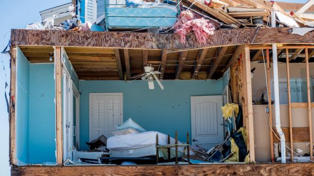 FILE-- Damage in the aftermath of Hurricane Michael in Mexico Beach, Fla., Oct. 13, 2018. By the end of this century, some parts of the world could face as many as six climate-related crises at the same time, researchers have concluded. (Johnny Milano/The New York Times)