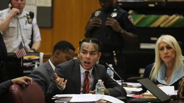 FILE-- Daniel Hernandez, the rapper known as Tekashi69 or 6ix9ine, during his sentencing of four years' probation in a case involving explicit videos with an underage girl, in state Supreme Court in Manhattan, Oct. 26, 2018. The Brooklyn-based rapper and Instagram star known as 6ix9ine was arrested Nov. 19 by federal authorities on racketeering and firearms charges, the authorities said. (Jefferson Siegel/The New York Times)