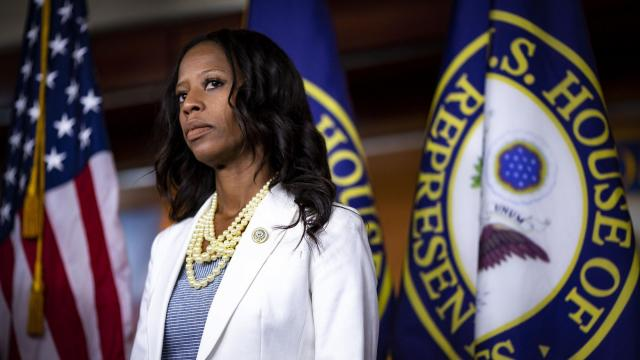 FILE -- Rep. Mia Love (R-Utah) during a news conference with House Republican lawmakers, on Capitol Hill in Washington, July 17, 2018. Ben McAdams, the Democratic mayor of Salt Lake County, unseated Love, the first and only black Republican woman in Congress, whose bid for re-election in deep red Utah failed by a narrow margin on Nov. 20, 2018. (Al Drago/The New York Times)