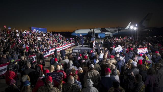 President Donald Trump speaks at a rally in Tupelo, Miss., Nov. 26, 2018. Trump returned to the campaign trail in Mississippi to offer an unabashed endorsement of Sen. Cindy Hyde-Smith, a Republican candidate under fire for comments that critics said embraced the state's segregationist history. (Sarah Silbiger/The New York Times)