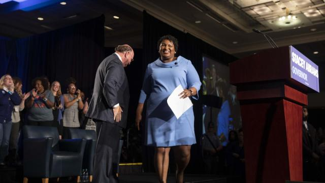 FILE -- Stacey Abrams, the Democrat who narrowly lost the Georgia governor's race, at her election night party in Atlanta, Nov. 6, 2018. Saying that voting-roll purges and problems at the polls had amounted to voter suppression, allies of Abrams called on Nov. 27, 2018, for federal oversight. (Ruth Fremson/The New York Times)