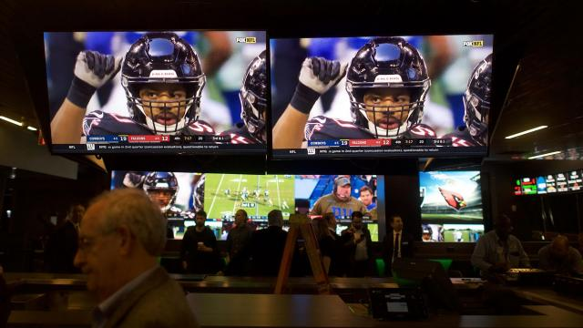 The sports book room at the Resorts Casino in Atlantic City, N.J., where dozens of surveillance cameras are monitored by a security team, Nov. 18, 2018. As sports betting has boomed from a niche hobby to big business in New Jersey, so too has the high-stakes battle to protect the integrity of professional and collegiate games — and the betting systems themselves. (Mark Makela/The New York Times)